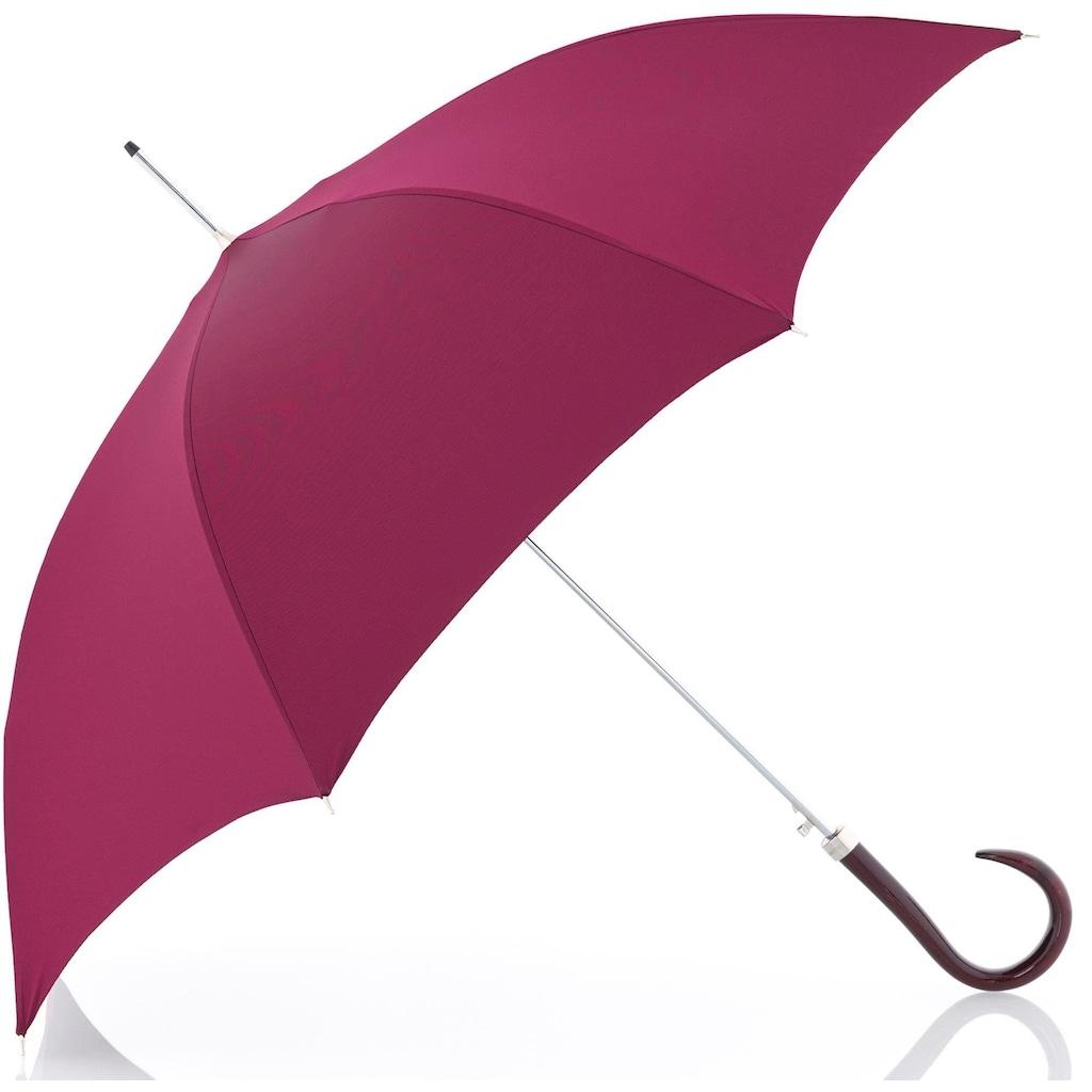doppler MANUFAKTUR Stockregenschirm »Oxford Uni, pink«, handgemachter Manufaktur-Stockschirm