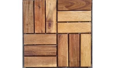 Merxx Holz - Fliesen »Akazie« mit Klick - Verbindung, Fläche: 0,9 m²/Paket, braun kaufen