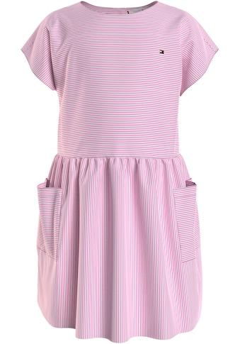TOMMY HILFIGER Blusenkleid »LG NEON STRIPE DRESS S/S«, mit großen Taschen kaufen