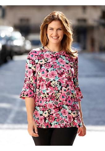 m. collection 3/4-Arm-Shirt, rundum mit Blumenmuster kaufen
