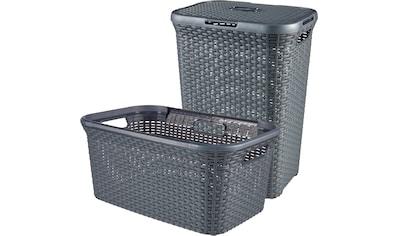 Curver Wäschekorb »Style«, (Set, 2 St.), Wäschebox (60L) und Wäschekorb (45L) kaufen