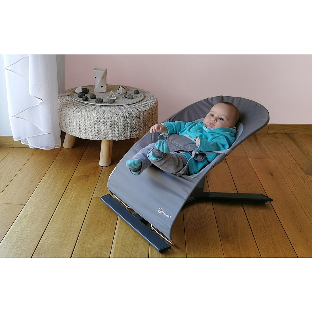 BabyGo Babywippe »Fancy, grey«, bis 9 kg