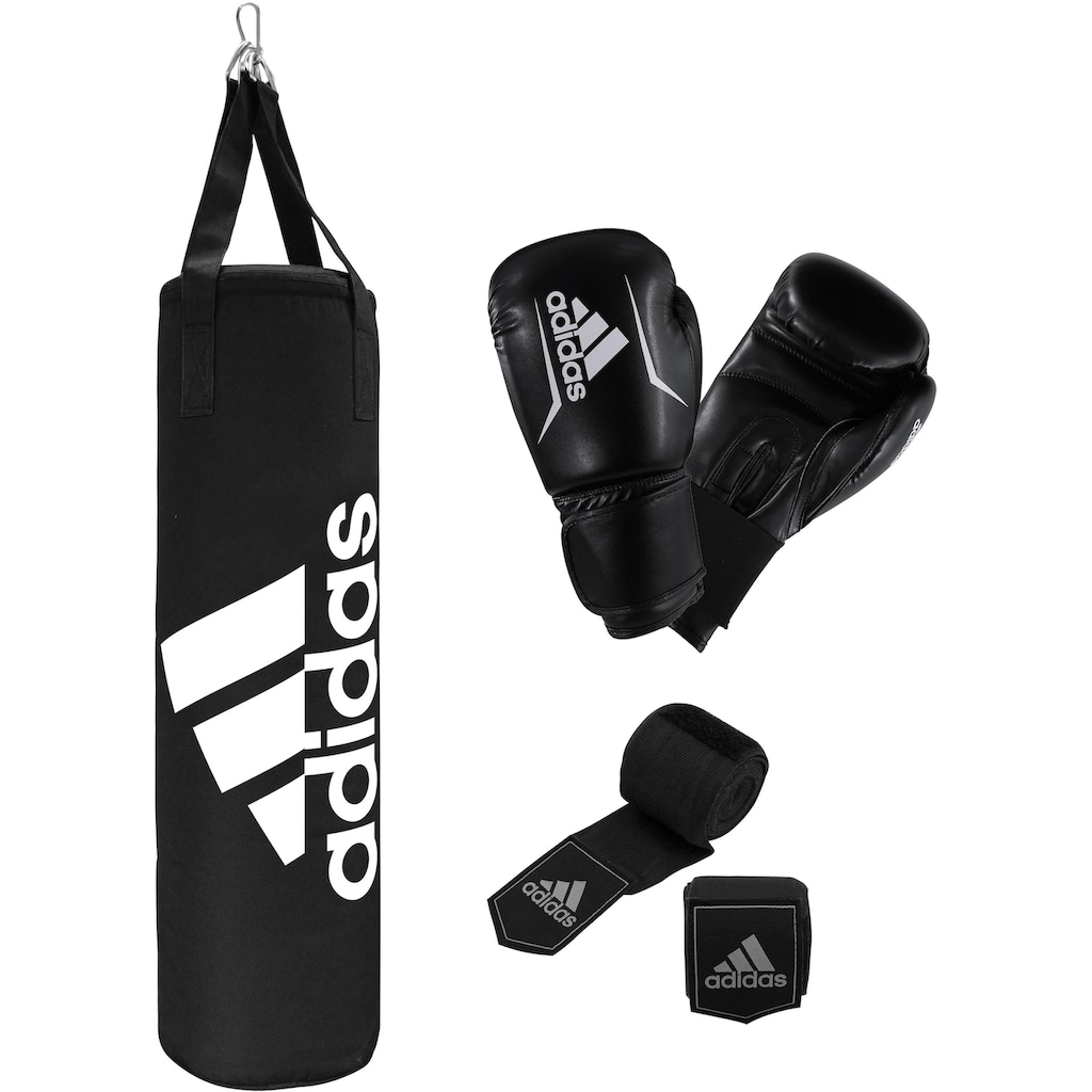 adidas Performance Boxsack »Performance Boxing Set«, (Set, mit Bandagen-mit Boxhandschuhen)