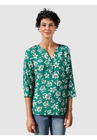 Dress In Schlupfbluse, mit sommerlichen Print kaufen