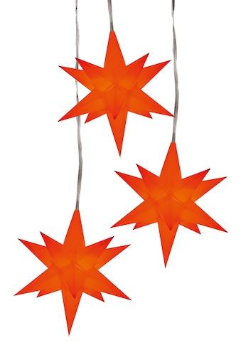 HGD Holz - Glas - Design 3er - Sternenkette für Außen und Innen kaufen