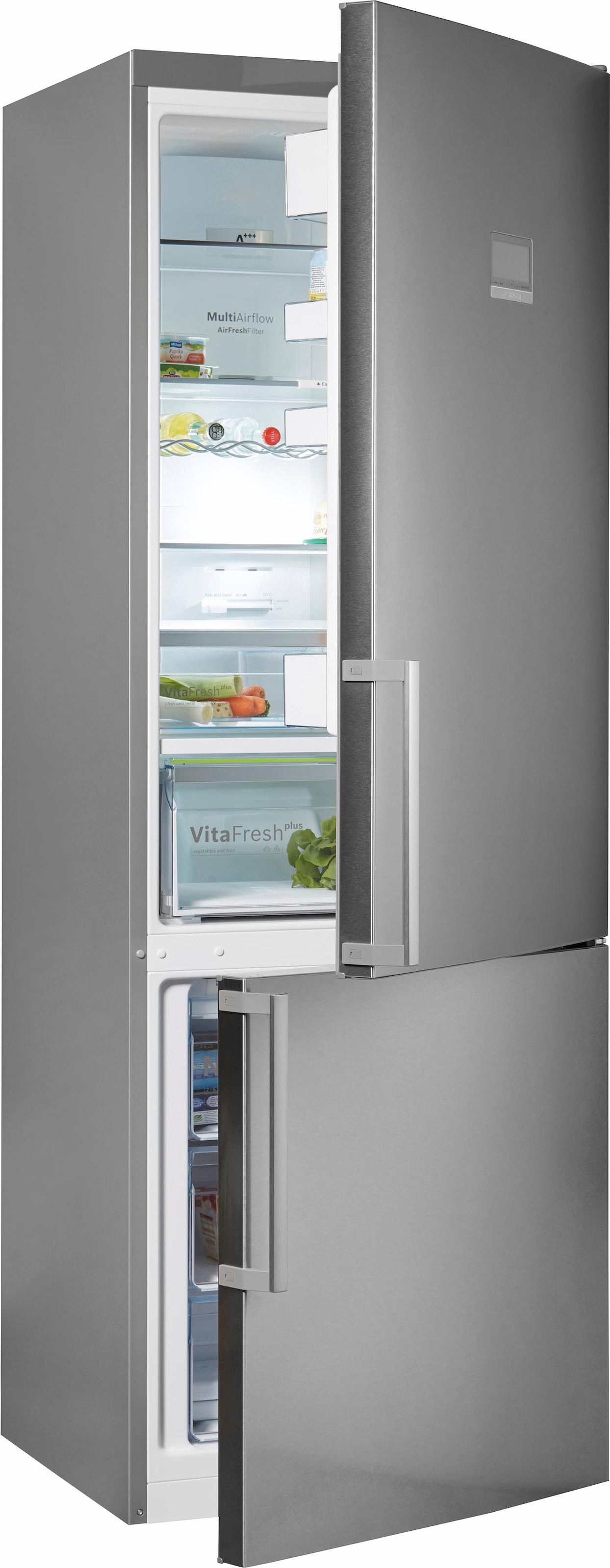 Bosch Kühlschrank Gefrierkombination : Bosch kühl gefrierkombination kgn ai cm hoch nofrost baur