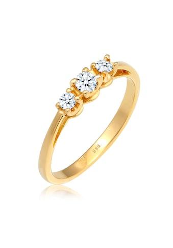 Diamore Diamantring »Verlobungsring Trio Diamant 0.22 ct. 585 Gelbgold« kaufen