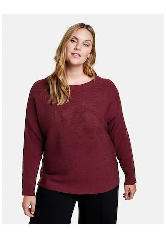 Samoon Rundhalspullover »Pullover mit horizontalem Rippstrick« kaufen