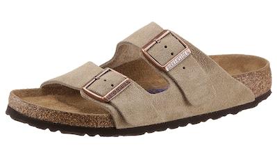 Birkenstock Pantolette »Arizona SFB«, aus Veloursleder, schmale Schuhweite kaufen