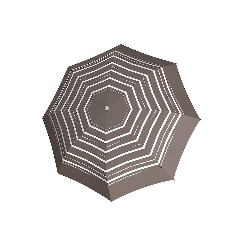 Knirps® Taschenregenschirm »T2 Duomatic taupe«