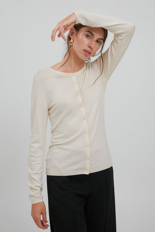 ichi -  Cardigan IHMAFA ROUND CA 103115, Basic Cardigan mit Knopfleiste
