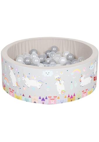 Knorrtoys® Bällebad »Soft, Unicorn grau«, mit 150 Bällen grau/weiß/transparent; Made... kaufen