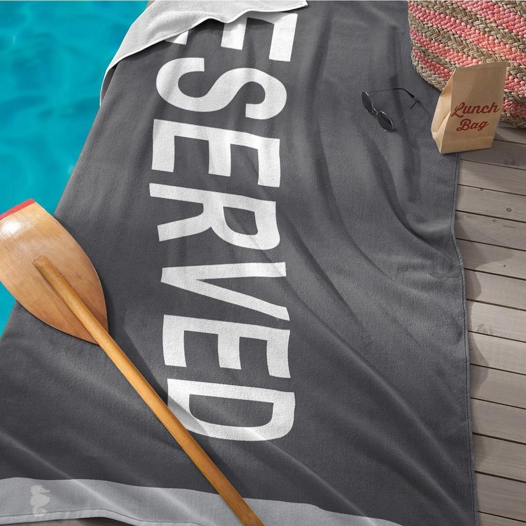 Seahorse Strandtuch »Reserved«, (1 St.), mit Schriftzug