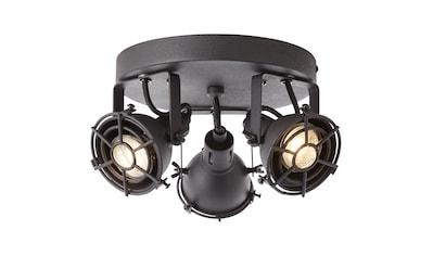Brilliant Leuchten Jesper LED Spotrondell 3flg schwarz korund kaufen