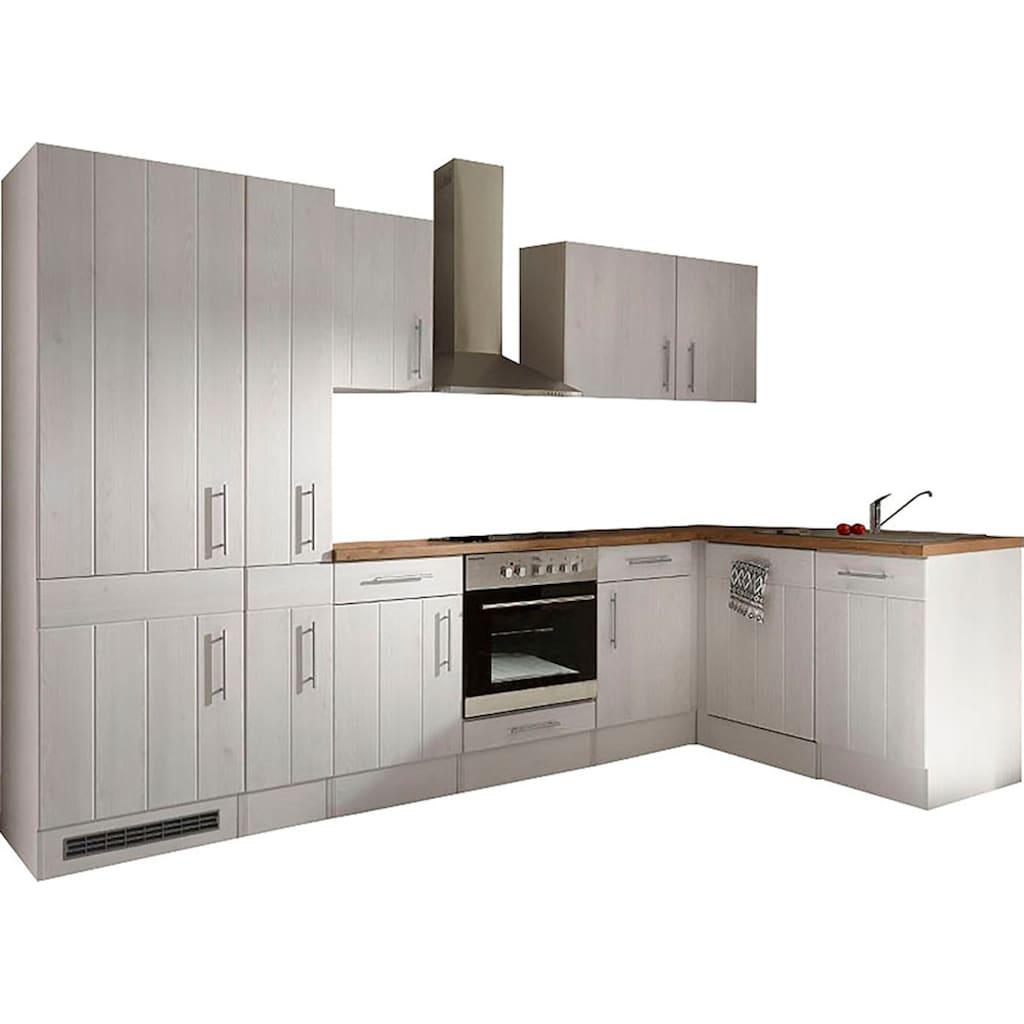 RESPEKTA Winkelküche »Ulm«, mit E-Geräten, Stellbreite 310 x 172 cm