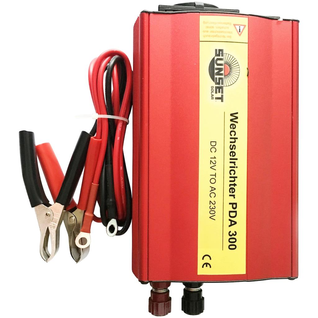 Sunset Spannungswandler »Wechselrichter PDA 300«, 12V, für Solar-Stromsets, mit USB-Anschluss