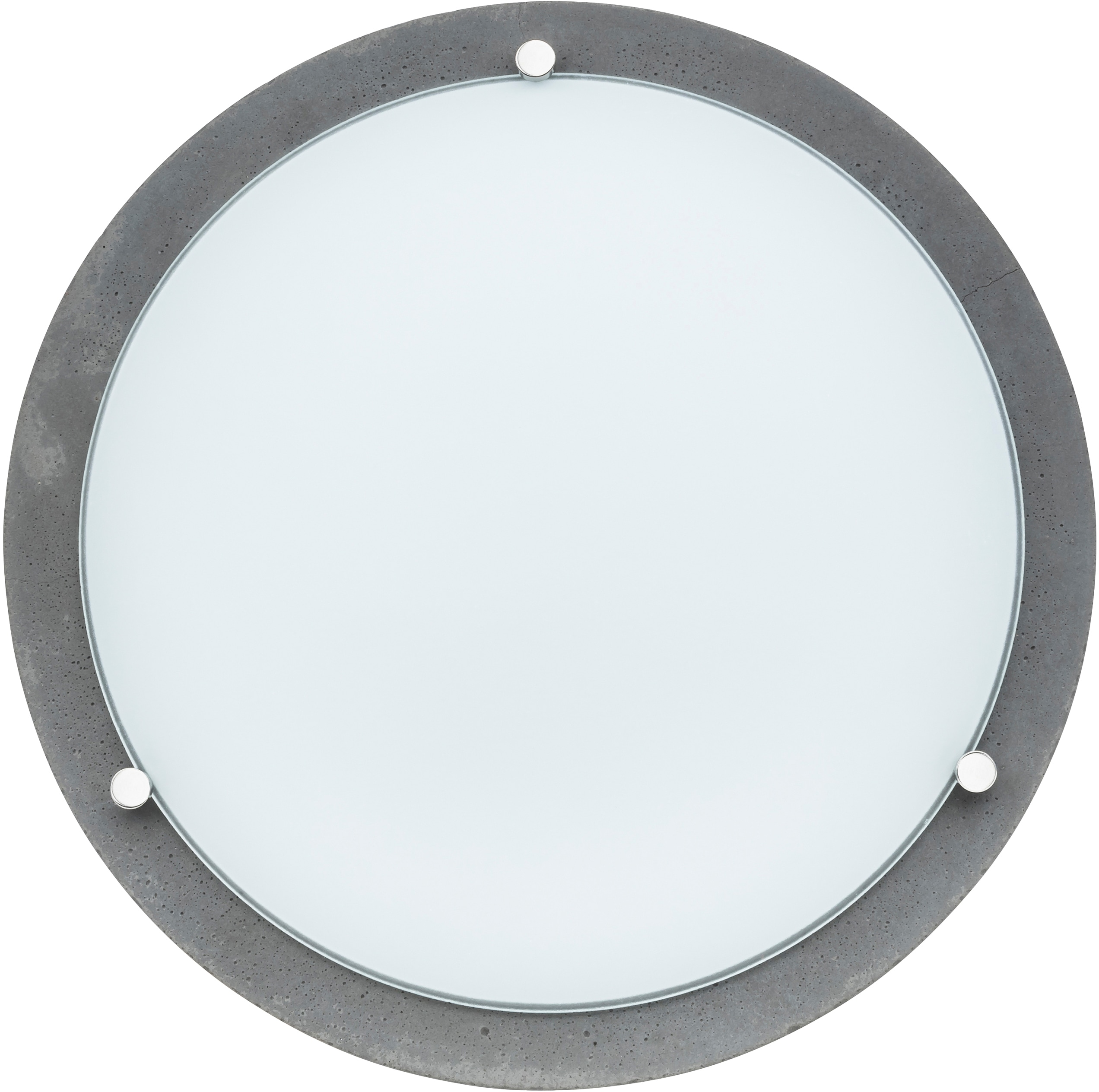 SPOT Light Deckenleuchte ROCKY, LED-Board, 1 St., Wertige Materialien: echtes Beton und Glas, festintegriertes LED-Leuchtmittel, Naturprodukt - nachhaltig, Made in EU