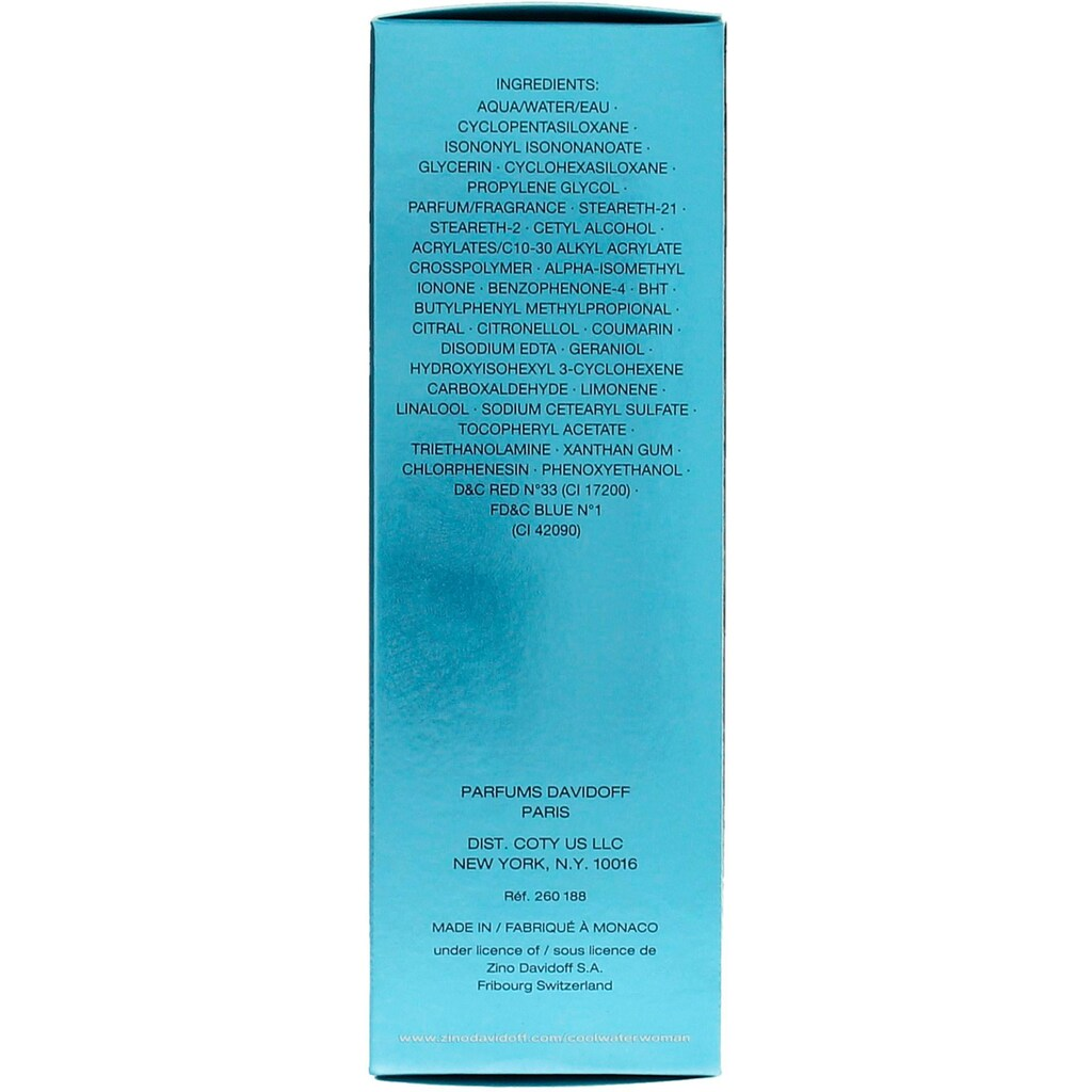 DAVIDOFF Bodylotion »Cool Water Woman Bodylotion«, (Packung, 1 tlg.)