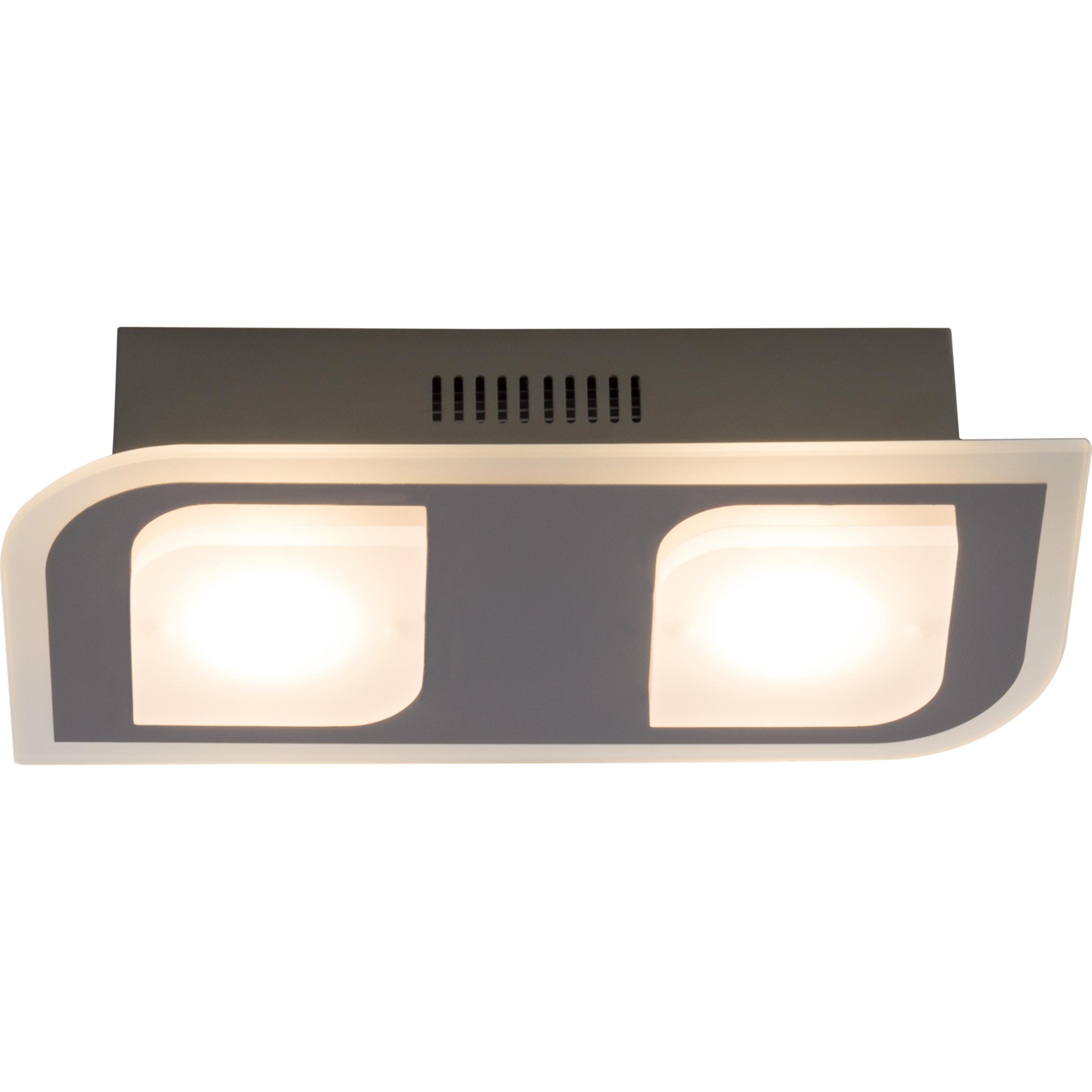 Brilliant Leuchten Formular LED Wand- und Deckenleuchte 2flg chrom
