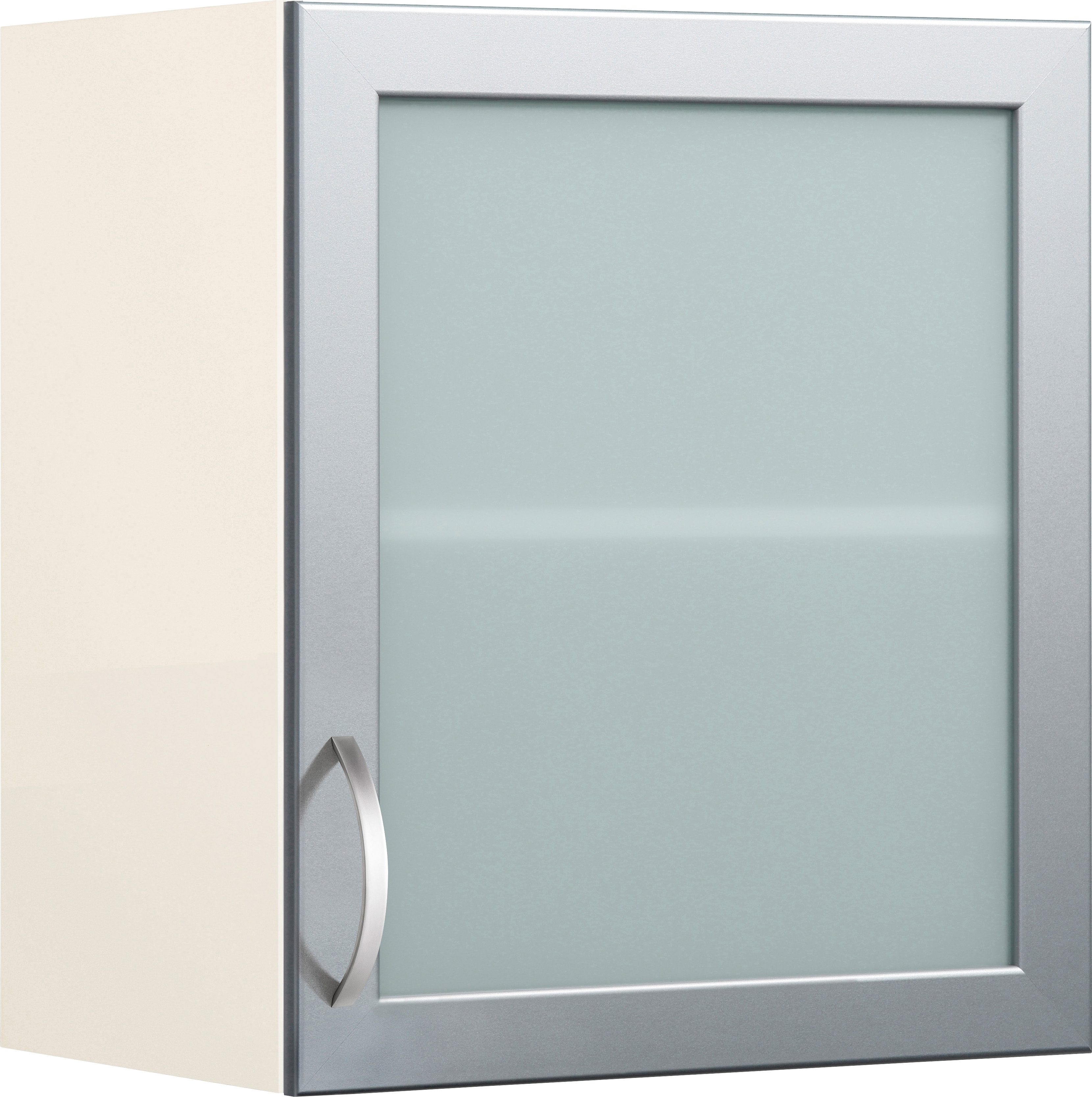Glashänger mit Rahmentür Flexi Breite 50 cm | Wohnzimmer > Schränke > Hängeschränke | Weiß