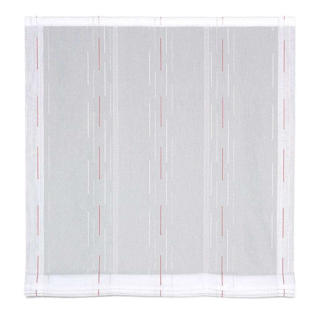Gerster Raffrollo »Polly«, mit Klettband, ohne Bohren, freihängend, Raffrollo Polly mit Scherli Design