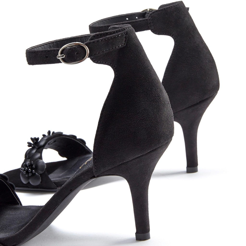 LASCANA High-Heel-Sandalette, mit Blumenapplikation