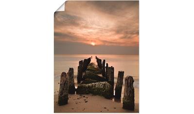Artland Wandbild »Sonnenuntergang an der Ostsee«, Sonnenaufgang & -untergang, (1 St.),... kaufen