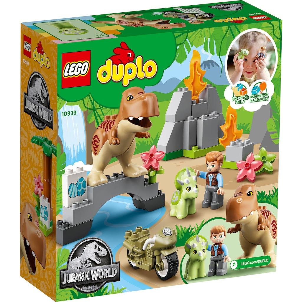 LEGO® Konstruktionsspielsteine »Ausbruch des T. rex und Triceratops (10939), LEGO® DUPLO® Jurassic World™«, (36 St.)