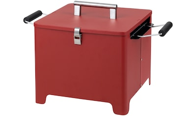 Tepro Holzkohlegrill »Chill&Grill Cube«, rot kaufen