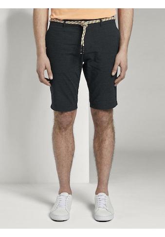 TOM TAILOR Denim Shorts »Gemusterte Chinoshorts mit Kordelgürtel« kaufen