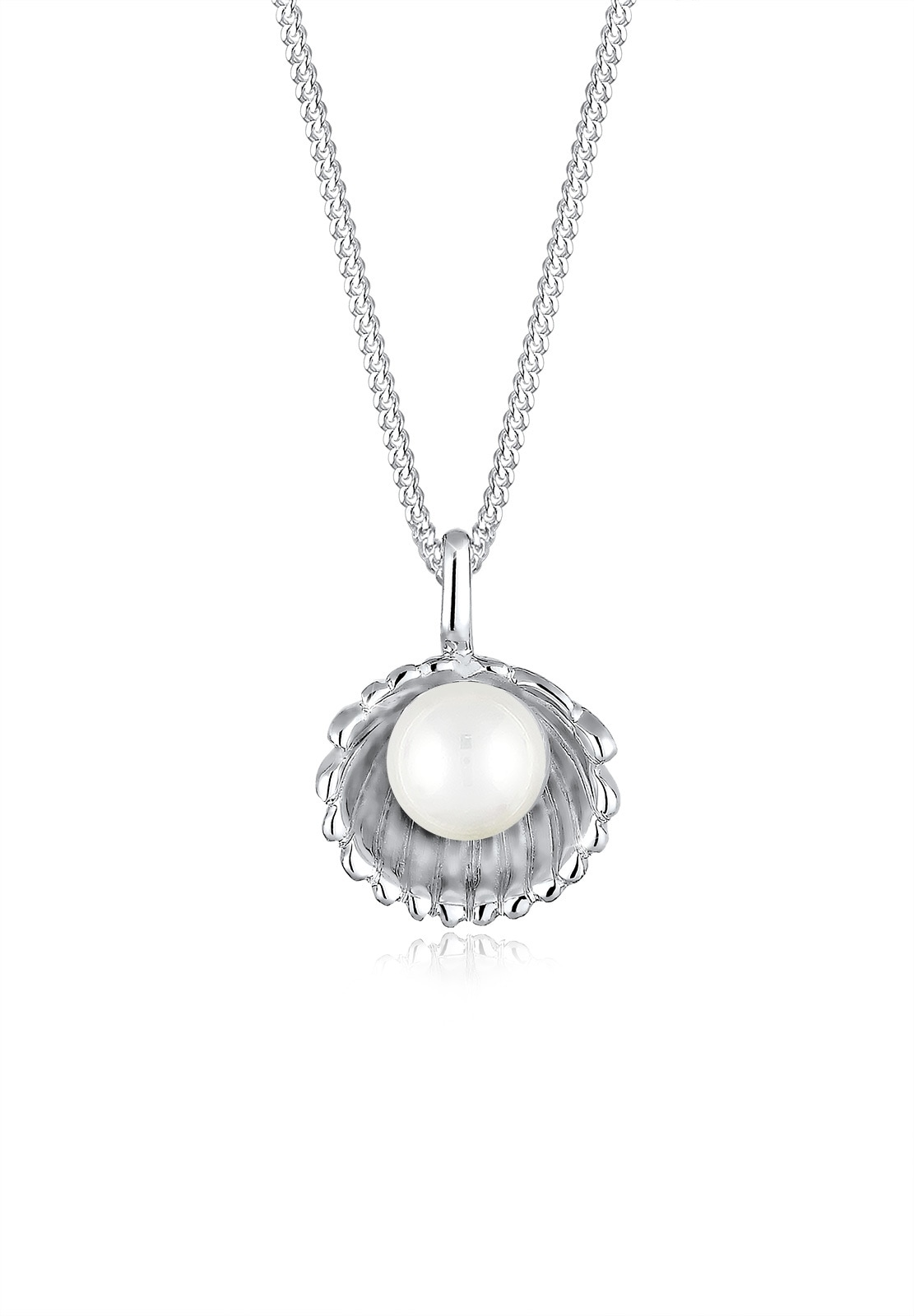 Elli Perlenkette Muschel Süßwasser-Perlenkugel 925 Sterling Silber | Schmuck > Halsketten > Perlenketten | Elli