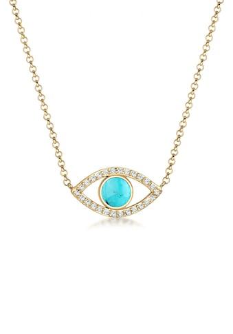Elli Collierkettchen »Evil Eye Howlith Swarovski® Kristalle 925 Silber« kaufen