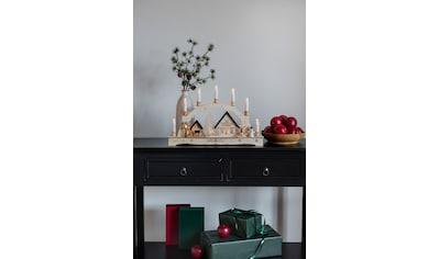 "KONSTSMIDE LED Schwibbogen, 1 tlg., Holzsilhouette ""sieben Kerzen"" kaufen"