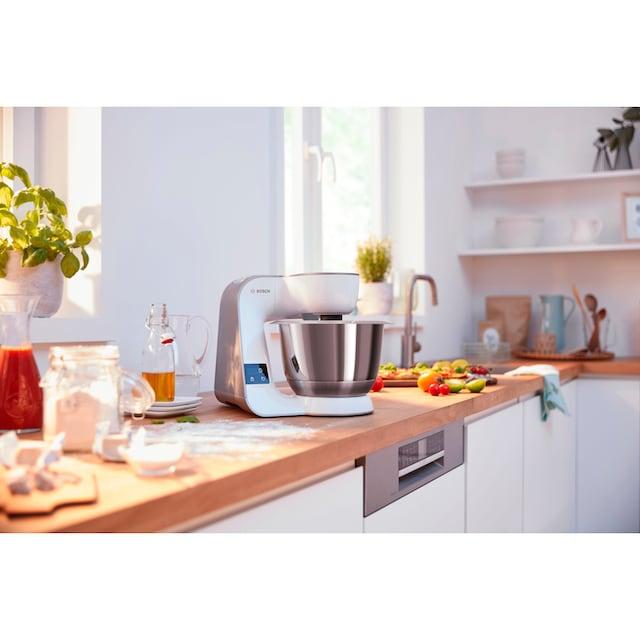BOSCH Küchenmaschine MUM5XW40 scale mit integrierter Waage, 1000 Watt, Schüssel 3,9 Liter
