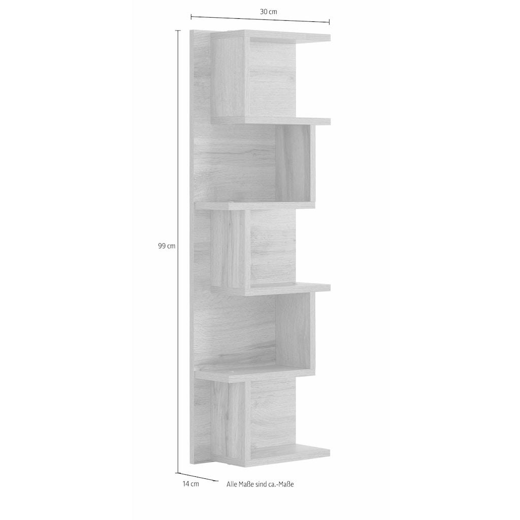 Schildmeyer Wandregal »Rhodos«, Breite 30 cm, 5 Ablageflächen