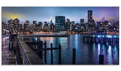 Artland Glasbild »New York Manhattan im Abendlicht«, Amerika, (1 St.) kaufen