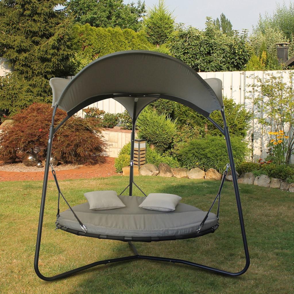 Leco Gartenliege »Luxusschaukelbett Mareike«, mit verstellbarer Rückenlehne