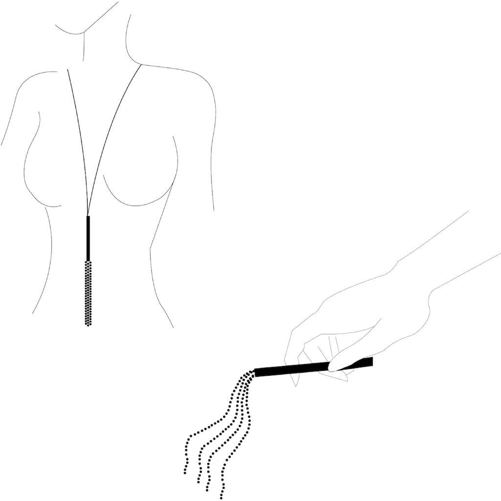 Bijoux Indiscrets Erotik-Halsband »Magnifique Necklace & Whip«, silber, mit abnehmbarer Peitsche