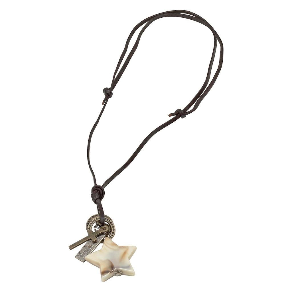 J.Jayz Kette mit Anhänger »mit Stern, Kreuz, beschriftete Plakette«