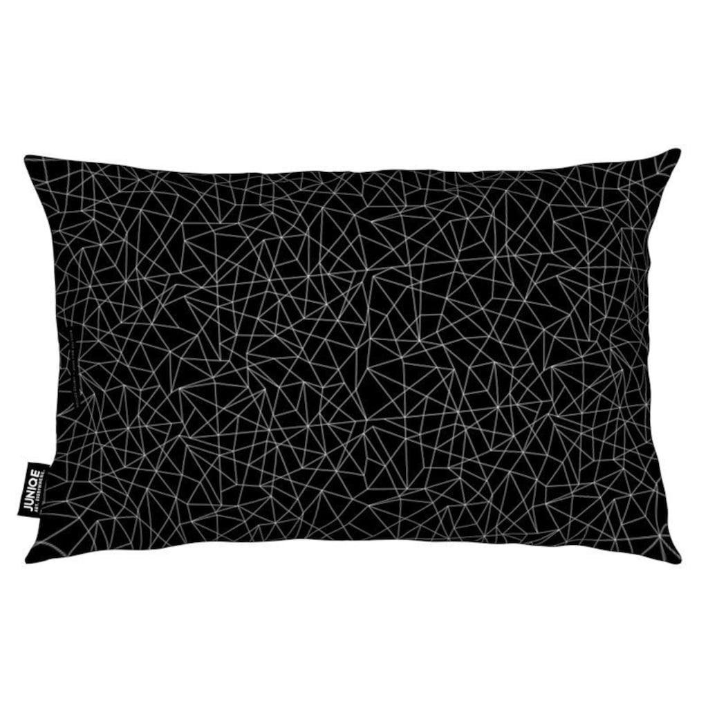 Juniqe Dekokissen »Black Diamond«, Weiches, allergikerfreundliches Material