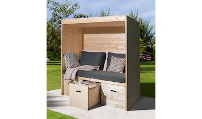 WEKA Set: Sitzlaube »Bozen«, Sitz -  und Rückenauflage, BxTxH: 170x85x192 cm kaufen