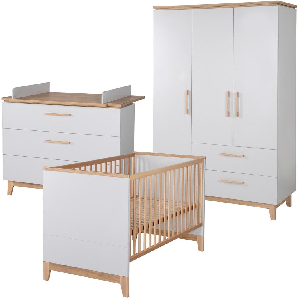 roba® Babyzimmer-Komplettset »Caro«, (Set, 3 St.), mit Kinderbett, Schrank und Wickelkommode