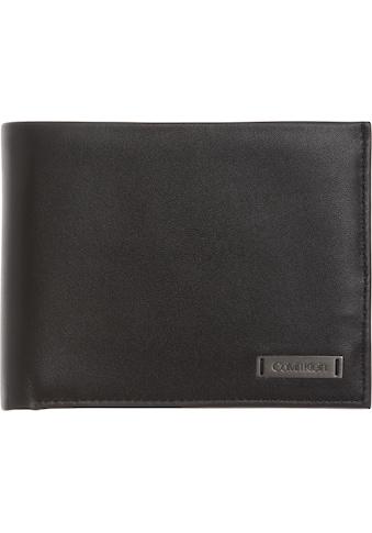 Calvin Klein Geldbörse »SMOOTH W PLAQUE SMOOTH W PLAQUE 5 CC COIN«, in schlichter Optik kaufen