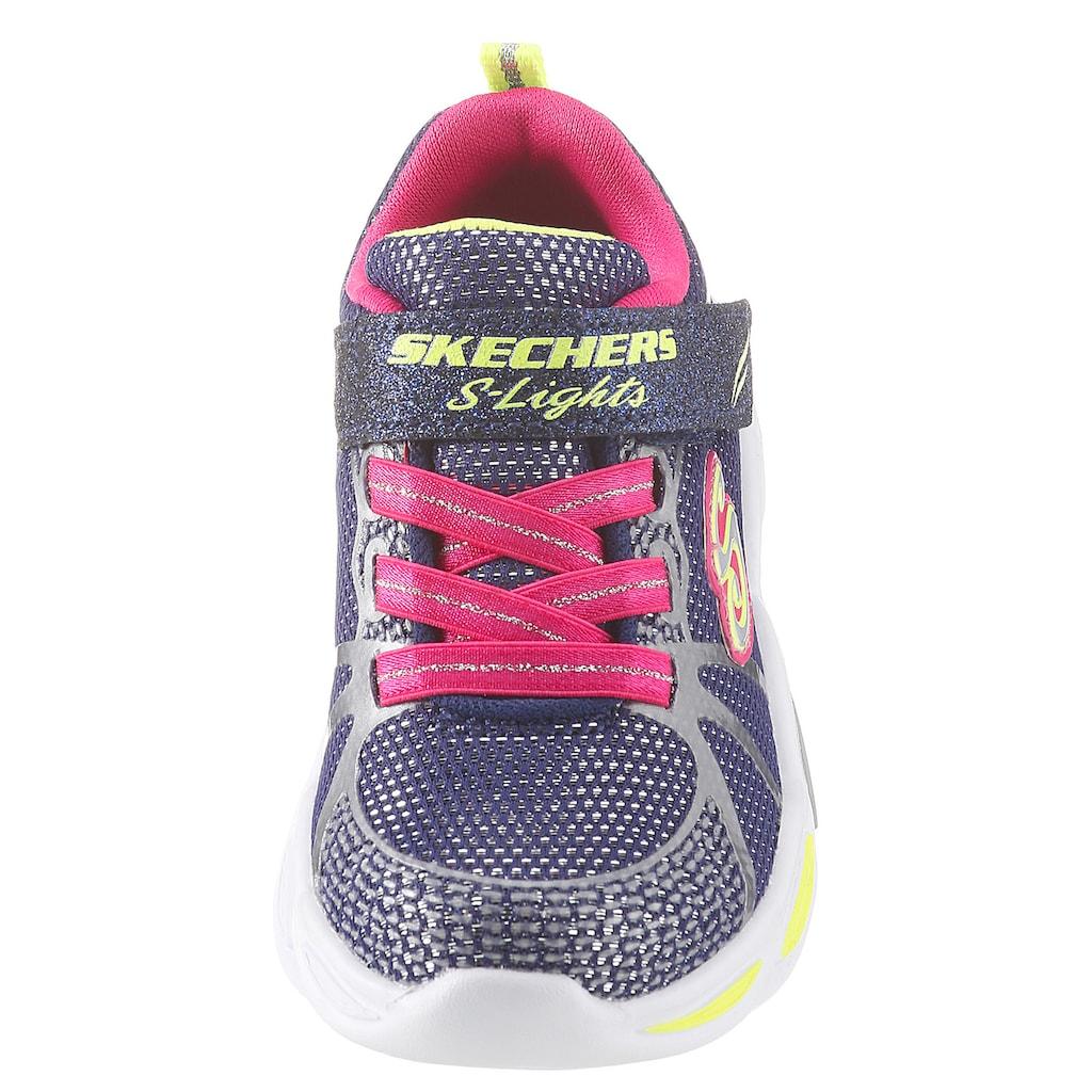 Skechers Kids Sneaker »Blinkschuh Shimmer Beams«, mit cooler Blinkfunktion