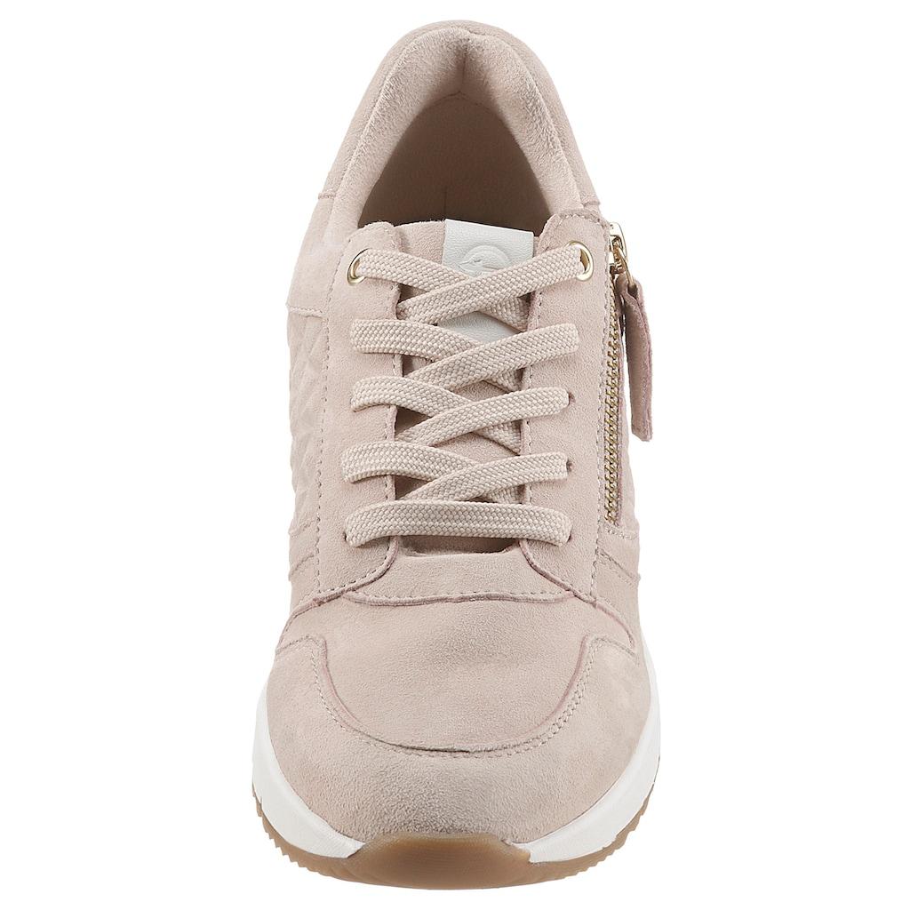 Tamaris Wedgesneaker »REA«, mit Außenreißverschluss