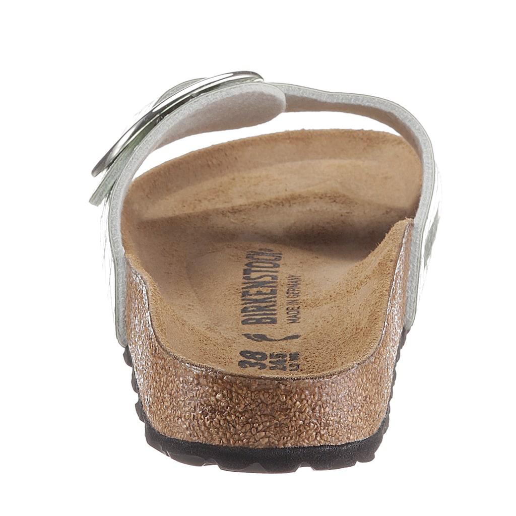 Birkenstock Pantolette »Madrid«, in glänzender Reptiloptik, Schuhweite: schmal