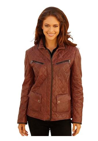 Mona Lederjacke mit leichter Wattierung kaufen