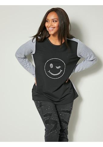 Angel of Style by Happy Size Sweatshirt mit Smiley kaufen