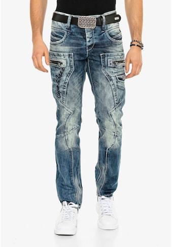 Cipo & Baxx Bequeme Jeans, im lässigen Biker-Stil kaufen