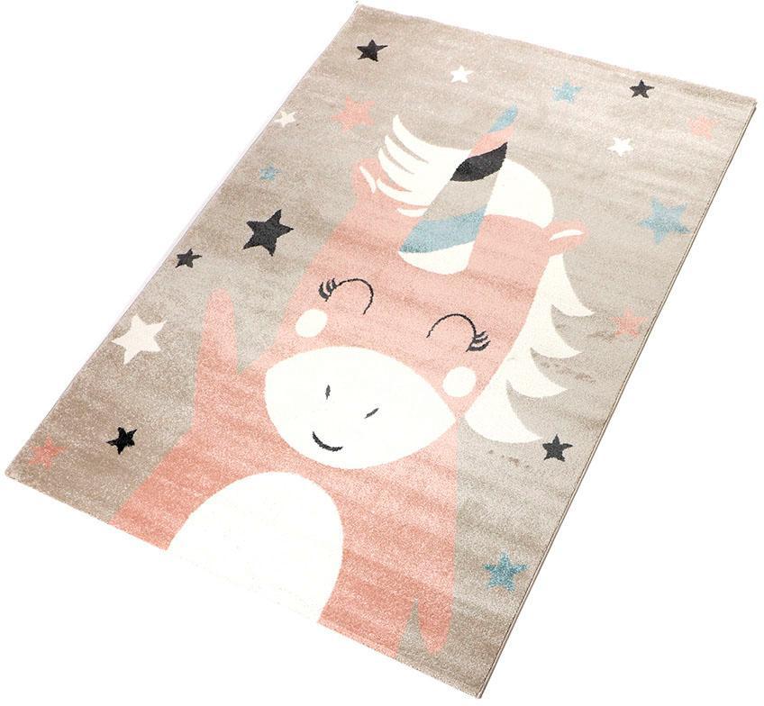 Kinderteppich Einhorn 1 Living Line rechteckig Höhe 12 mm maschinell gewebt | Kinderzimmer > Textilien für Kinder > Kinderteppiche | Rosa | Living Line